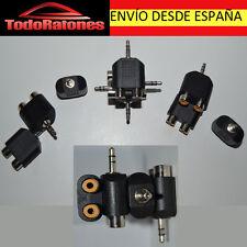 AUDIO adaptador splitter duplicador de rca hembra doble audio video a Jack 3,5mm