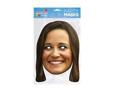 Pippa Middleton - Promi Maske - hochwertiger Glanzkarton mit Augenlöchern