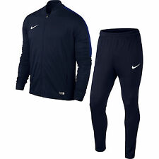 Boys Nike Football Sports Full Tracksuit Kids Junior Zip Bottoms Top M Age 10-12 Navy Blue