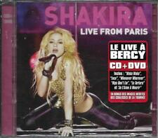 CD 19 TITRES + DVD SHAKIRA LIVE FROM PARIS NEUF SCELLE FRENCH STICKER 2011