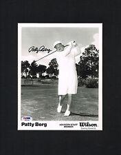 Patty Berg (d. 2006) signed autograph Matted 11x14 Lpga Legned & Hof Psa Cert