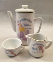 Vintage My Little Pony Spring Song Flower Bouquet Ceramic Tea Set Hasbro 1991