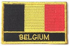 Belgium Embroidered Sew or Iron on Patch Badge