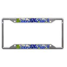 TEXAS BLUE BONNET FLOWER Metal License Plate Frame Tag Holder Four Holes