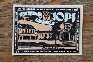 Notgeld Notgeldschein 1918-33 Bentheim 10 Pf. Künstler signiert krabbe +++
