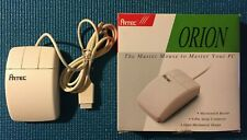 "Vintage Three Button Computer Mouse Orion Artec w/ 3.5"" Disk"