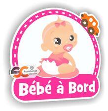 Bébé à Bord - Modèle Fille  - Enfant Sticker Autocollant Sécurité