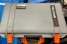 Pelican 1535 Air case. Grey & orange With pockets on cover