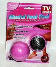 Personal Touch Blissful Feet Pod TV Brands Transforms Rough Feet To Soft Pink