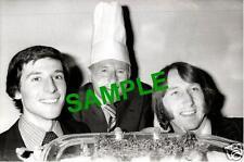 ORIGINAL 1979 PHOTO - ATHLETE SEBASTIAN COE DJ JIMMY YOUNG RUGBY J.P.R. WILLIAMS