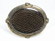"Georgian Woven ""Mourning Hair"" Brooch~C-Clasp Antique Gold Filled Victorian /"
