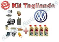 KIT TAGLIANDO OLIO CASTROL 5W40 + FILTRI VW POLO 1.4 TDI 55KW DAL 2001 AL 2005 -