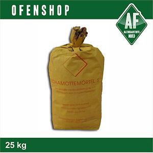 Schamottemörtel S 25 kg Ofenbau Schamottmörtel