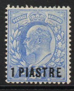 BRITISH LEVANT SG13 1906 1pi on 2½d ULTRAMARINE MTD MINT