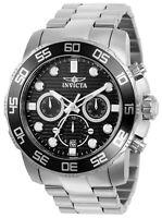 Invicta 22226 Gent's Chrono Quartz Black Dial Steel Bracelet Watch