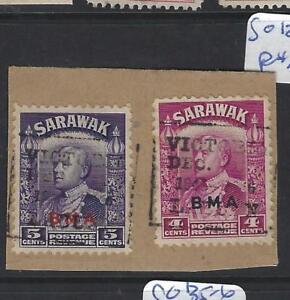 SARAWAK  (P2010B)  BOX LABUAN CANCEL 4C+5C     SG 129-30      VFU