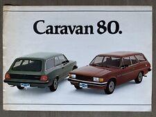 1980 Chevrolet Caravan original Brazilian sales brochure (2P)