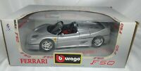"Bburago 1:18 FERRARI F50 ""Silver Edition"" 1995 Die-Cast 3352 CAR MODEL for sale"