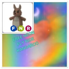 FREE Roblox Adopt Me FNR Kangaroo Fly Neon Ride NFR W/ Purchase Of Photo