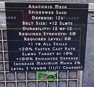 Diablo 2: Resurrected Arachnid Mesh Pc/Ps4/ps5
