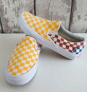 Vans slip on checkerboard Trainers Sneakers Size 39 UK 6