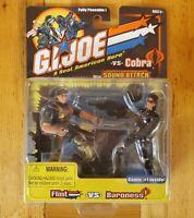 GI JOE vs COBRA Flint vs Baroness! NIP! (Hasbro)