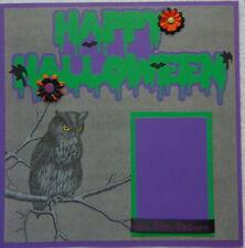 12X12 HAPPY HALLOWEEN PREMADE SCRAPBOOK PAGE LAYOUT PAPER PIECING - TONYA