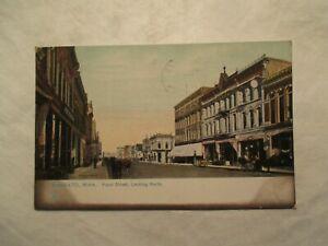 Mankato Minnesota Rafhael Tuck Front Street looking north 1908 Postcard