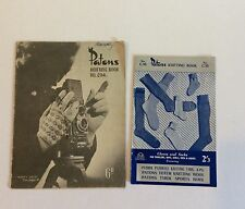 Socks Gloves Patons Vintage Knitting Pattern Books No C16 No 204 LOT x 2 Soxs