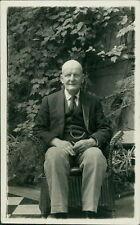 Old Gentleman Bald Sitting Garden Wicker Chair   CB.846