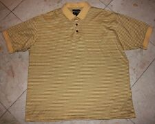 Men's BOLLE Golf S/S Polo Shirt Yellow with Black Striped - Large