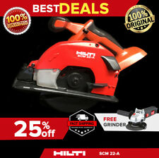 HILTI SCM 22-A CORDLESS METAL SAW, PREOWNED, FREE ANGLE GRINDER, FAST SHIPPING