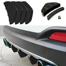 4pcs Black Universal Lower Rear Body Bumper Diffuser Shark Fin Car Body Kit