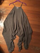 Planet By Lauren Grossman Long Layering Tunic Blouse Top One Size Brown NWOT