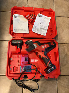 Milwaukee 2472-21XC M12 Cordless 600 MCM Cable Cutter Kit TWO BATTERIES