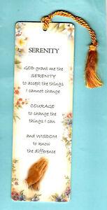 Bookmark Serenity Prayer God Peace Christian Love Bereavement Condolence Gifts