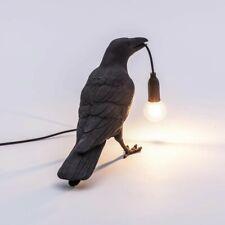 Seletti Style Raven Lamp Light Black / White Novelty Bird Crow Lingting New
