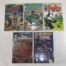 Lot of 5 #1 Issue Comic Books - Green Lantern, Rune, Felix the Cat, Star Slammer