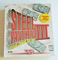 Steel Panthers III 3 Brigade Command 1939 - Vintage 1999 (Big Box PC new/sealed)