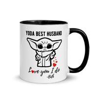 Cute Valentine's Day Gift Mug, Gift for Him, Gift for Husband, Yoda Best Husband