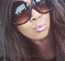 Oversized BOHO Amber Brown Tortoise Big Huge Fashion Sunglasses Glasses 1033 XXL
