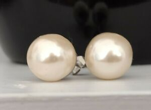 Vintage 1940's South Sea Baroque Pearl Stud Earrings.... Natural Large 12mm !