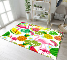 2'7''x1'8'' Tropical Summer Fruit Flamingo Area Rug  Floor Door Rugs Carpets New
