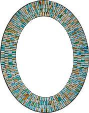 Zorigs Mirror Wall Art Décor – Handcrafted Decorative Wall Mirror, Sea Blue