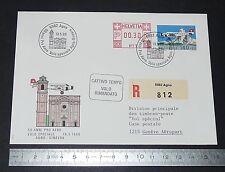 ENVELOPPE 1er JOUR PHILATELIE 1988 SUISSE SCHWEIZ AVIATION PRO AERO AGNO-GINEVRA