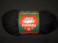 Red Heart Holiday Worsted Metallic Blend Yarn 1 Skein Black/Silver 3040