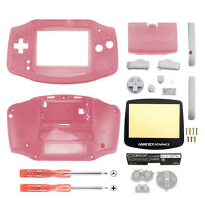 New Housing Shell Parts for Nintendo Gameboy Advance GBA Repari Clear Pink