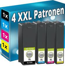 4x TINTE PATRONEN für LEXMARK 100XL S300 S301 S305 S308 S815 S816 S608 S405 S408