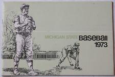 1973 Michigan State Spartans Baseball Media Guide College