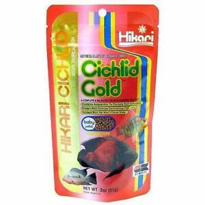 Hikari Cichlid Gold Baby - 250g 1.7-2.0mm Pellet Food Tropical Aquarium Feed